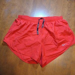 Nike DriFit Running Shorts Lined Drawstring Zipper